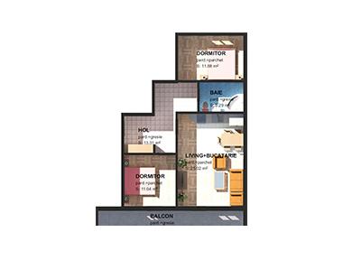 Apartamente 3 camere M2