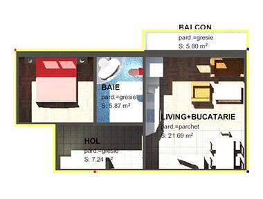 Apartamente – 2 camere M1