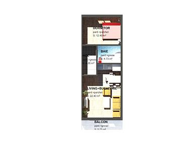 Apartamente – 2 camere M2